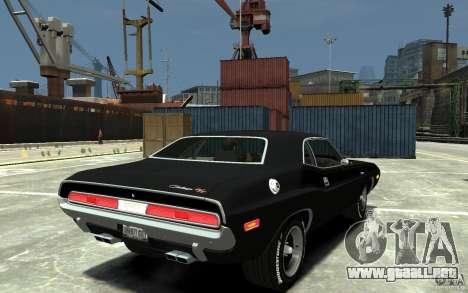 Dodge Challenger R/T Hemi 1970 para GTA 4 visión correcta