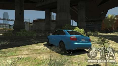 Audi S4 2000 para GTA 4 Vista posterior izquierda