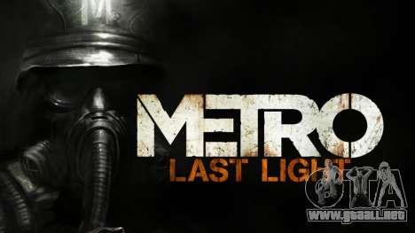 Metro Last Light AK 47 para GTA San Andreas segunda pantalla