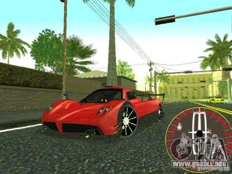 Nuevo velocímetro Lincoln para GTA San Andreas sucesivamente de pantalla
