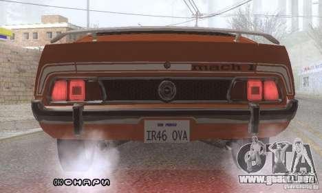 Ford Mustang Mach1 1973 para vista inferior GTA San Andreas