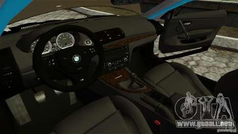 BMW 135i HellaFush para GTA 4 vista lateral