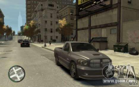 Dodge Ram SRT10 para GTA 4 vista hacia atrás