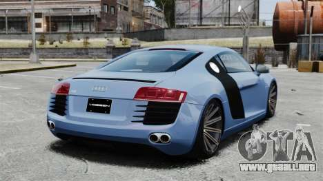 Audi R8 para GTA 4 Vista posterior izquierda