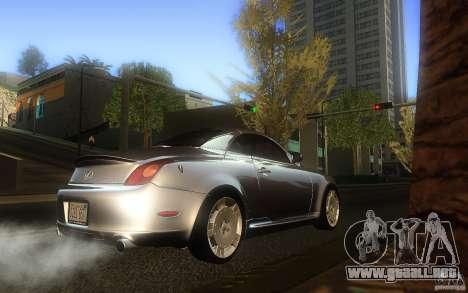 Lexus SC430 para la visión correcta GTA San Andreas