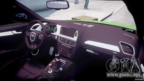 Audi S4 2010 v1.0 para GTA 4 vista superior