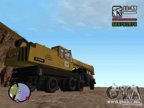 KrAZ-250 MKAT-40 para GTA San Andreas vista hacia atrás