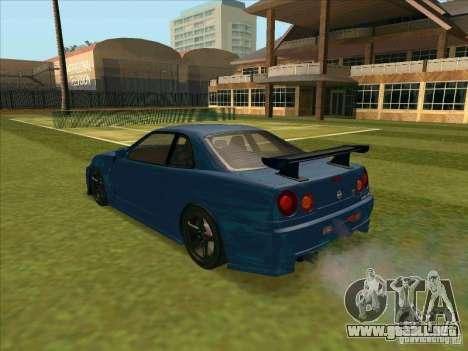 Nissan Skyline GT-R R34 from FnF 4 para GTA San Andreas left