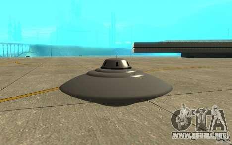 Bob Lazar Ufo para GTA San Andreas vista posterior izquierda