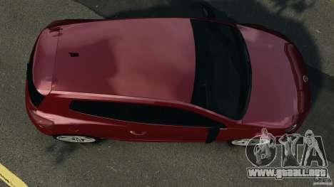 Volkswagen Scirocco R v1.0 para GTA 4 visión correcta