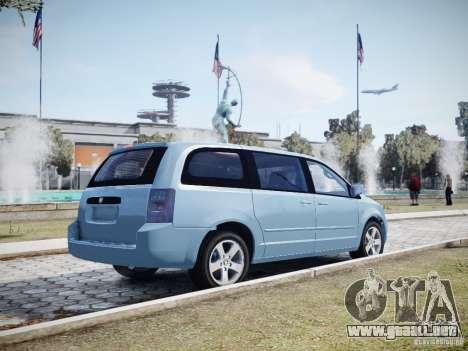 Dodge Grand Caravan SXT 2008 para GTA 4 vista desde abajo