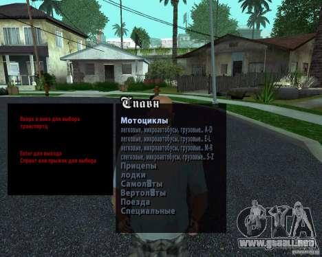 Máquinas de Spavn Rus para GTA San Andreas