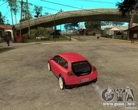 VOLVO C 30 T5 DEL 2008 para GTA San Andreas left