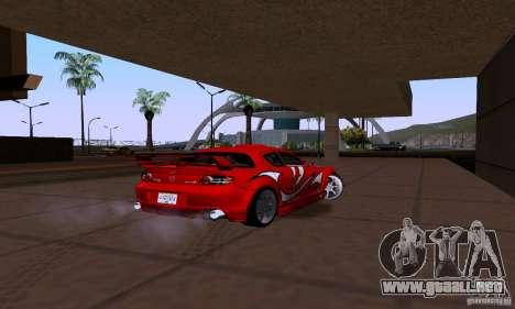 Mazda RX-8 Speed para GTA San Andreas vista posterior izquierda