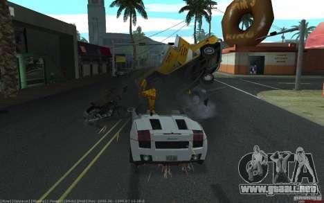 Accidente realista para GTA San Andreas sucesivamente de pantalla