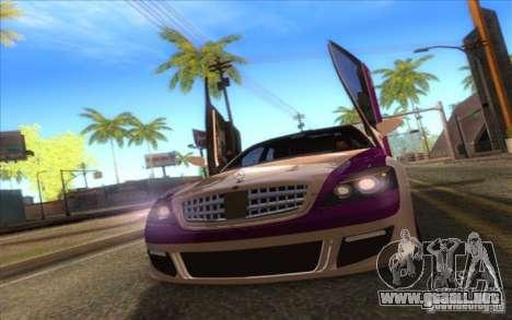 Mercedes-Benz S600 AMG WCC Edition para GTA San Andreas vista hacia atrás