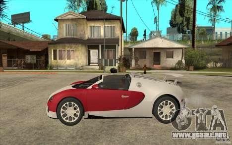 Bugatti Veyron Gran Sport 2011 para GTA San Andreas left