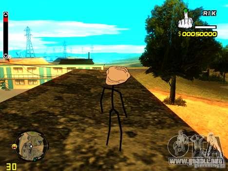 TrollFace skin para GTA San Andreas sucesivamente de pantalla