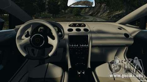 Lamborghini Gallardo LP570-4 Spyder Performante para GTA 4 vista hacia atrás