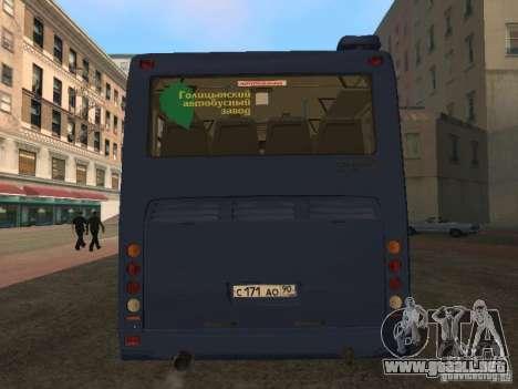LIAZ-5256 Golaz 2007 para la visión correcta GTA San Andreas