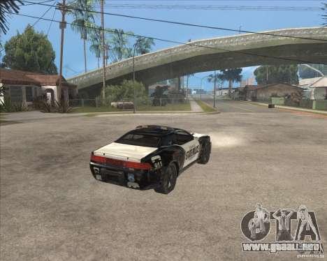 Police NFS UC para la visión correcta GTA San Andreas