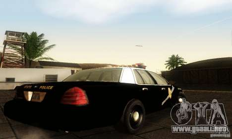 Ford Crown Victoria New Mexico Police para GTA San Andreas left