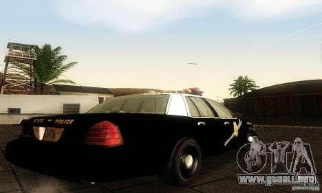 Ford Crown Victoria New Mexico Police para GTA San Andreas left