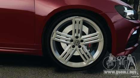 Volkswagen Scirocco R v1.0 para GTA 4 vista hacia atrás