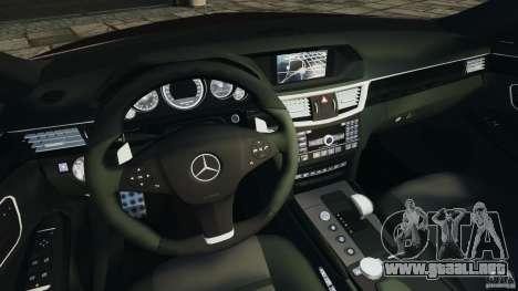 Mercedes-Benz E63 AMG para GTA 4 vista hacia atrás