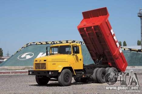 Camión KrAZ 65055 para la vista superior GTA San Andreas