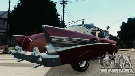 Chevrolet Bel Air Hardtop 1957 Light Tun para GTA 4 visión correcta