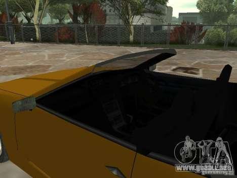 Elegía de tapas convertibles para GTA San Andreas vista posterior izquierda