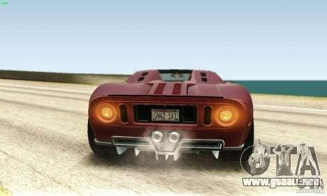 Ford GTX1 Roadster V1.0 para visión interna GTA San Andreas