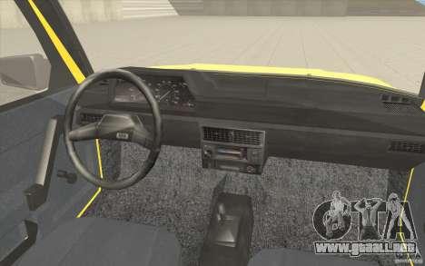 AZLK Moskvich 2141 Taxi v2 para la vista superior GTA San Andreas
