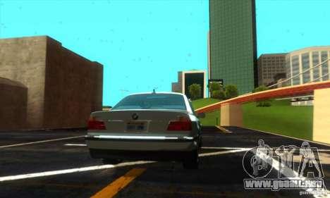 BMW 750i E38 para GTA San Andreas vista posterior izquierda