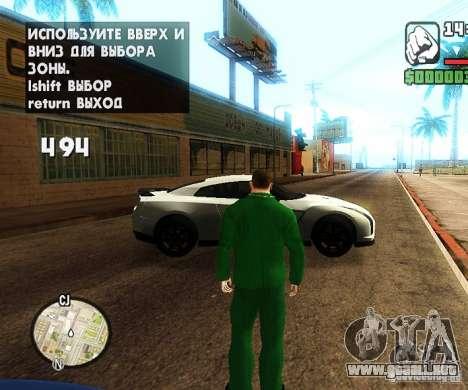 Сar coches de spawn-spawn para GTA San Andreas sucesivamente de pantalla