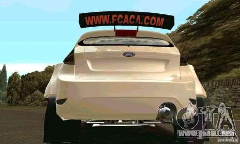 Ford Fiesta Rally para vista inferior GTA San Andreas