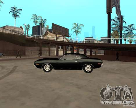 1970 Dodge Challenger R/T para GTA San Andreas left