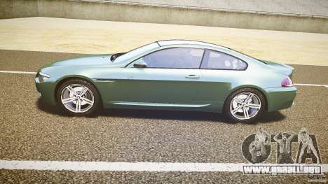 BMW M6 v1.0 para GTA 4 Vista posterior izquierda