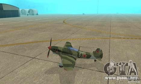 Yak-9 durante la II Guerra Mundial para GTA San Andreas left