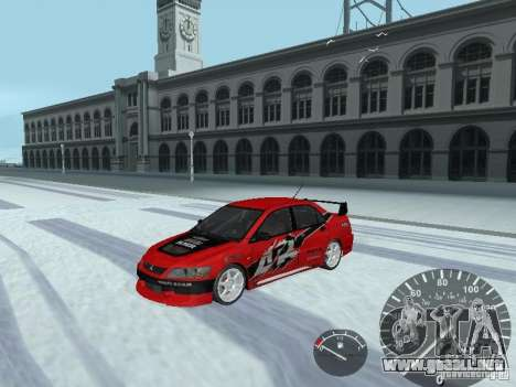 Mitsubishi Lancer Evolution 8 FQ400 para vista inferior GTA San Andreas