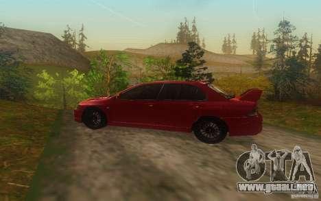 Mitsubishi Lancer Evolution IX 2006 MR v2 para GTA San Andreas left