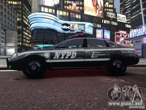 Chevrolet Impala 2006 NYPD Traffic para GTA 4 vista hacia atrás