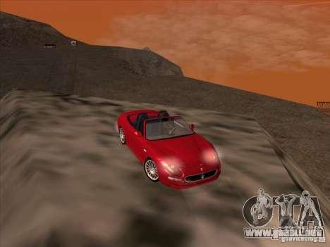 Maserati Spyder Cambiocorsa para vista lateral GTA San Andreas