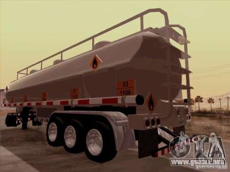 Trailer Kenworth T2000 para GTA San Andreas vista posterior izquierda
