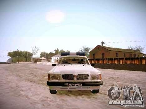 GAS 310231 urgente para GTA San Andreas vista hacia atrás