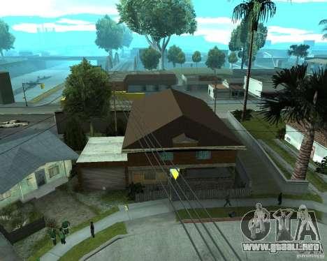 CJâ casa nueva para GTA San Andreas sucesivamente de pantalla