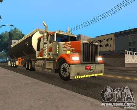 Western Star 4900 EX para GTA San Andreas left