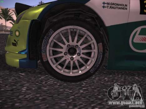 Ford Focus RS WRC 2006 para visión interna GTA San Andreas