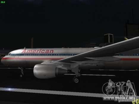 Airbus A320 para GTA San Andreas left